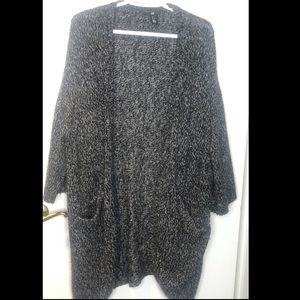 2/$40 H&M Black&Grey Open Front/ Drape Cardigan